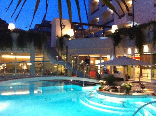 Hotel Belvedere Pool Bar At Night When Party Was Held