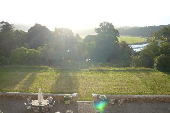 Pentillie Castle: View from our bedroom