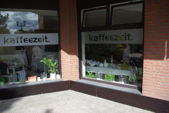Aussenansicht Café Kaffeezeit in Langenfeld