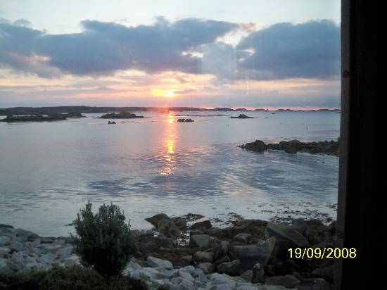 Tresco, UK: Sunrise from our room