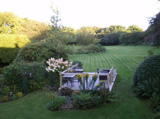 Martinhoe, UK: Garden from balcony