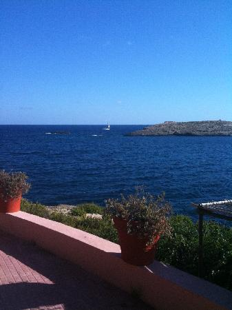 Comino Hotel: View from breakfast terrace