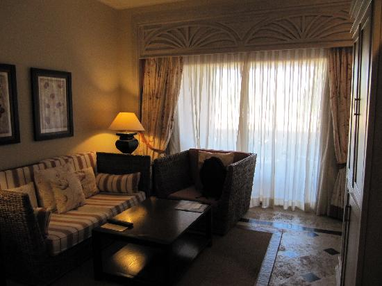 Sanctuary Cap Cana by AlSol: Sitting area in our room-Ocean View Junior Suite