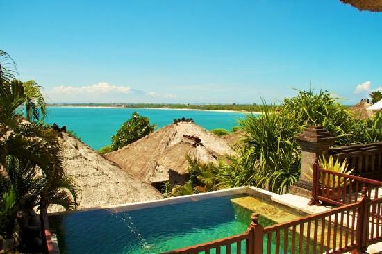 Four Seasons Resort Bali at Jimbaran Bay: The view of Jimbaran Bay.
