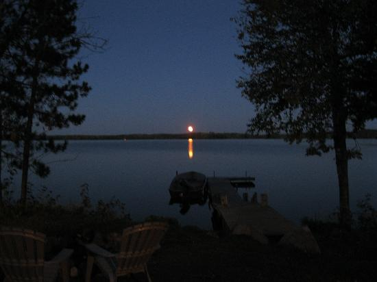 Moose Track Adventures: night view of the lake