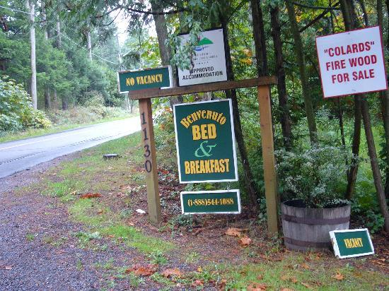 Benvenuto Bed & Breakfast : The welcoming sign to the Benvenuto B&B