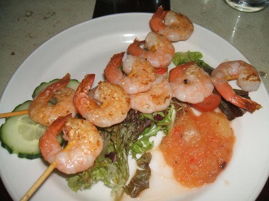 Murray's : Spicy skewered prawns