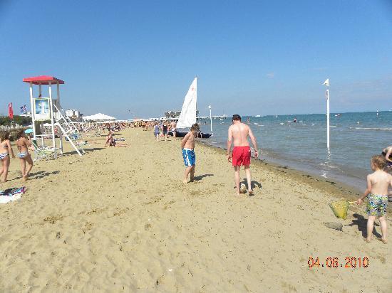 Hotel Europa: Strand von Lignano