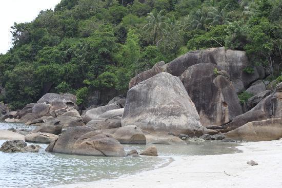 Thong Takhian Beach (Silver Beach): Ein paar Felsen