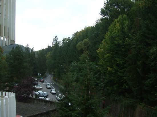 Sovata, Romania: View from the balcony (in front of the hotel)