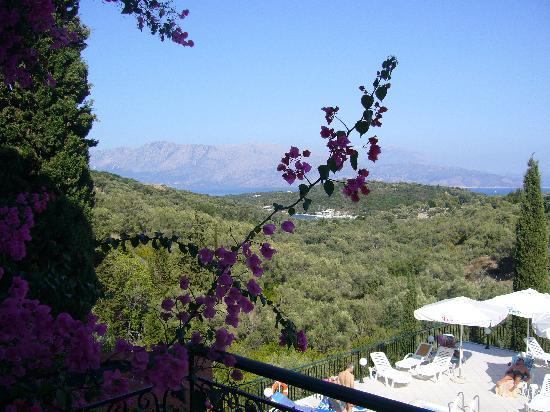 Meganisi, Yunani: View from our balcony