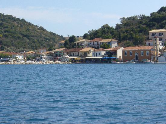 Meganisi, Greece: Vathy harbour