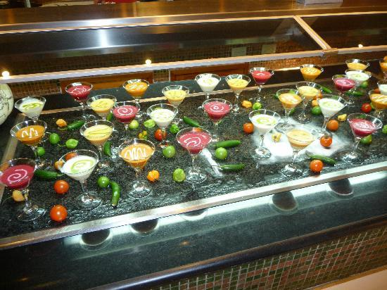 Cold Soup Selection At The Mexican Night Buffet Picture