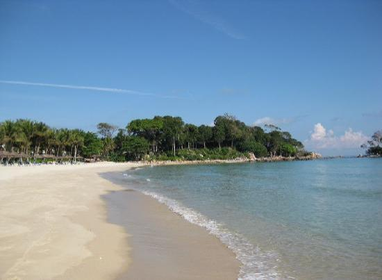 Club Med Bintan Island: Private beach looking at the speciality restaurant in the distance