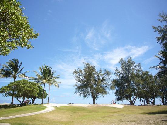 Kailua, Hawái: この先がカイルアビーチです