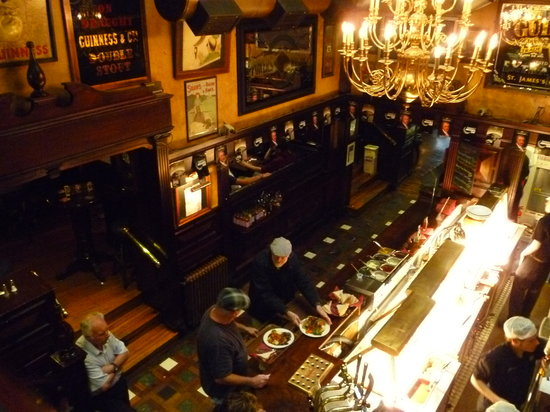 O'Neill's Bar and Restaurant : View of the carvery from top floor of pub