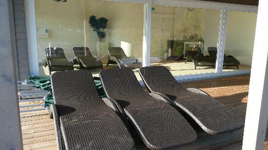 Apart Hotel Legendaer: Saunapavillon direkt am See