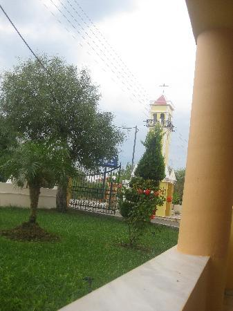 Hotel Macedonia: little church tower in hotel grounds