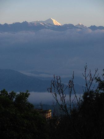 Dhulikhel, Nepal: The Mimalaya's from the front door of our accomodations