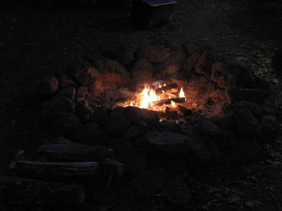 Heavenly Acres Campground: campfire