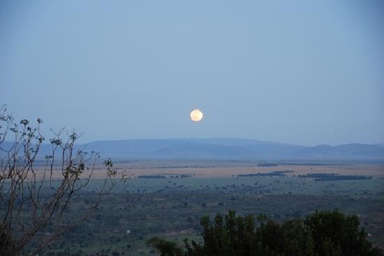 Mpata Safari Club : サバンナの満月。