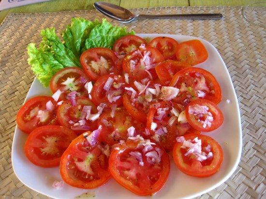 Bentota, Sri Lanka: perfect tomatoe salad