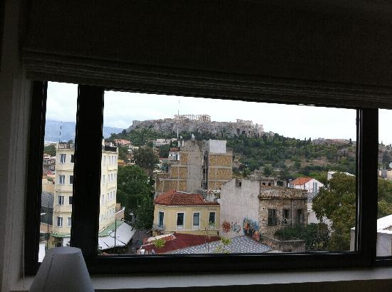 O&B Athens Boutique Hotel: View from inside our suite