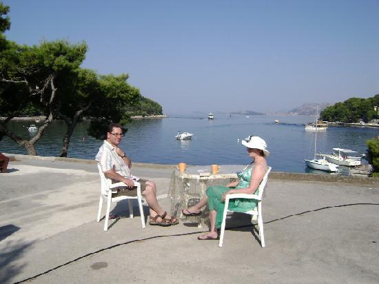 Villa Andro: sunbathing terrace overlooking the bay