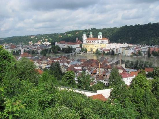 Passau, Deutschland: panorama from the Maria Hilf mountain