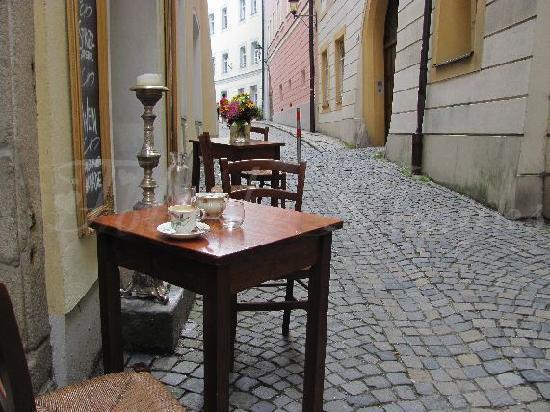 mini-terrace in a Passauer street