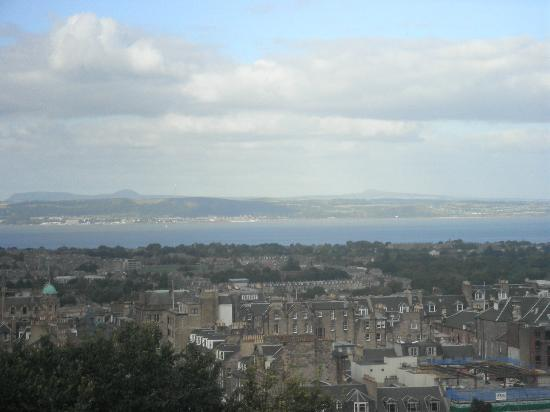 Premier Inn Edinburgh East Hotel: view from the castle overlooking the firth of forth