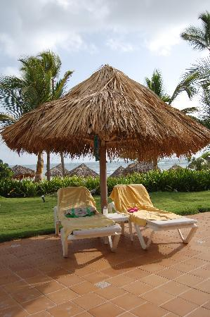 Excellence Punta Cana: Our pool chairs - Turn them around & watch ocean!