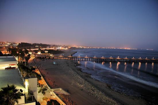 Crowne Plaza Ventura Beach Night From My Balcony