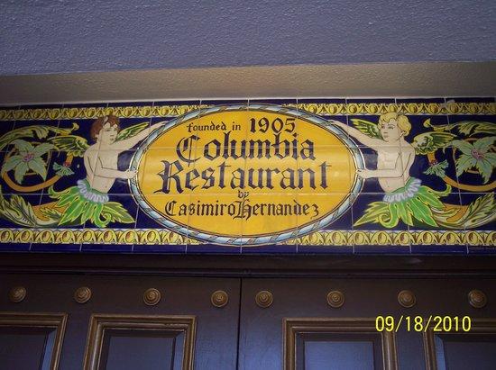 The Columbia Restaurant: Entrance