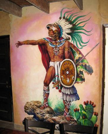Mariscos Chihuahua: one of the many murals