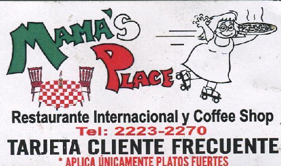 Mama's Place: Mama's Restaurant, San Jose CR
