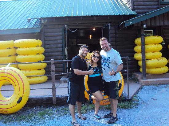 Adirondack Tubing Adventures : Us three after the trip, that's KEITH!