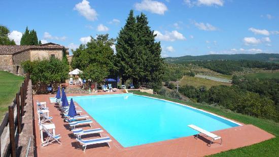 Quercia al Poggio: Pool with a view