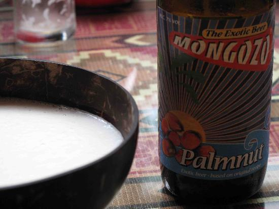 Axum: Beer can be experienced by drinking from a coconut shell as it would be in Ethiopia