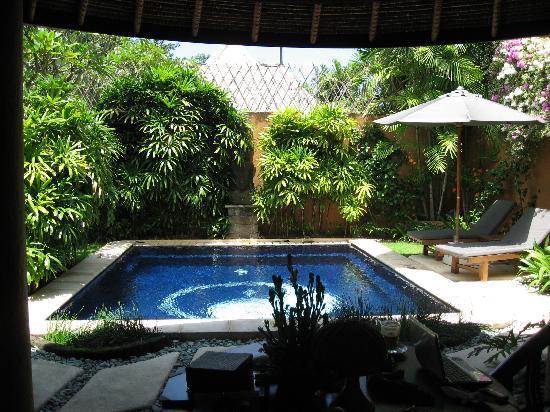 The Villas Bali Hotel & Spa: ダイニングテーブルより