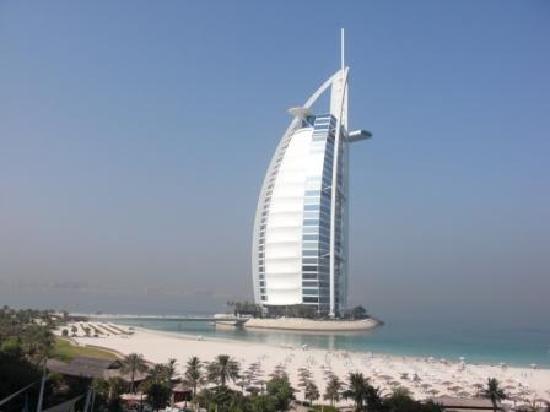 Jumeirah Beach Hotel: traumhafte Aussicht auf den Burj al Arab
