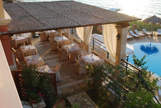 Delfino Blu Boutique Hotel: from our balcony, the dinner juices can start to flow!