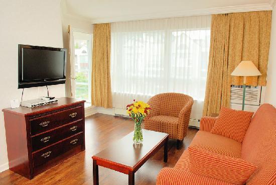 Robson Suites: One Bedroom Suite Living Room