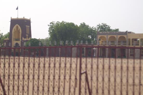 Outside the gates to the Emir's palace