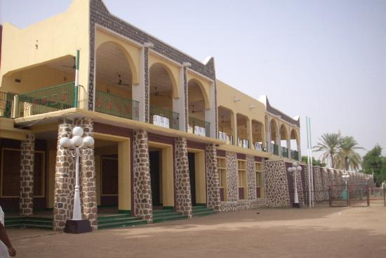 Emir's Palace: Reviewing stand where the Emir sits during the Durbar