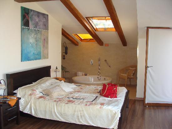 Posh Pina-Nof Psagot: chambre avec jacuzzi