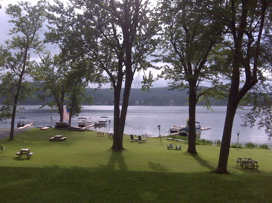 Lake House Restaurant: from the deck of the Lakehouse