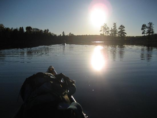 Moose Track Adventures : Horse Lake in the Boundary Waters, on a calm day