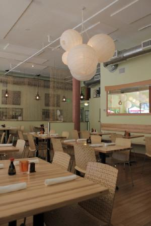 Sesame Asian Kitchen: Open and Airy Seating Inside