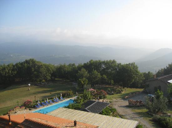 La Ghiandaia: View from bedroom window